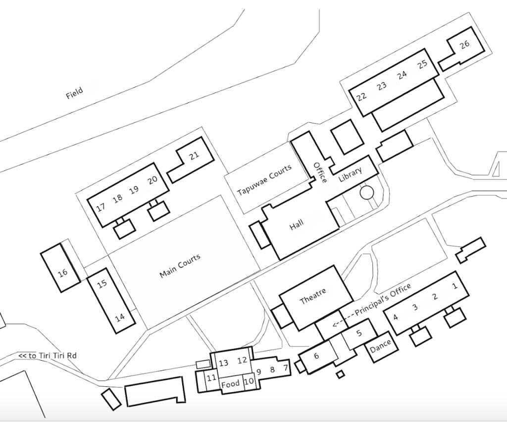 School Map, Birkdale Intermediate School